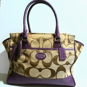 Coach Legacy Signature XL Candace Carryall Tote